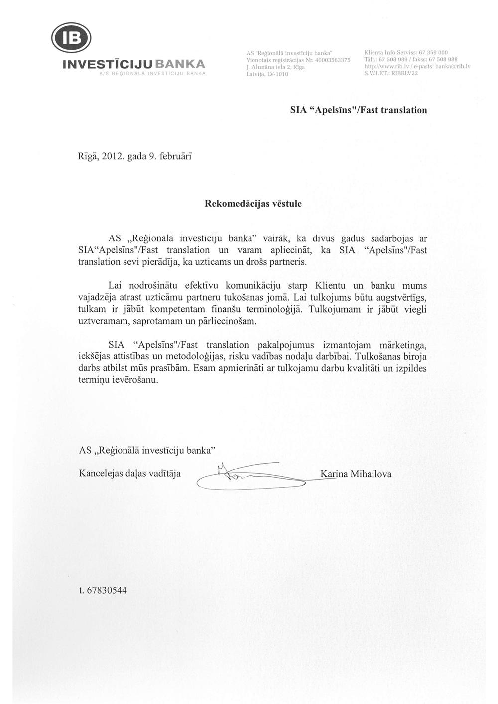 Tulkošanas birojs Rīgā